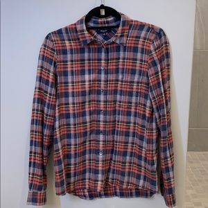 NWOT Madewell flannel 100% cotton long sleeve top